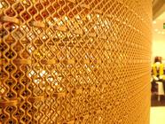 China 'Flexi' Woven Decorative Mesh for Column,Brass Wire Crimped Woven Architectural Mesh company