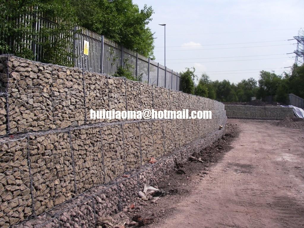 stone wall fences double twist woven mesh gabion reno mattress gabion wall gabion baskets. Black Bedroom Furniture Sets. Home Design Ideas